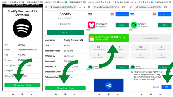 Android: Install Spotify Premium MOD Cracked APK